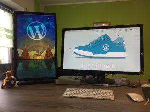 Arbeits mit zwei Bildschirmen und WP-Wallpapers