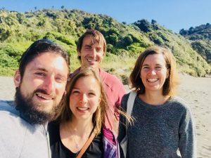 Foto von Ellen, Manuel, Melanie und Florian